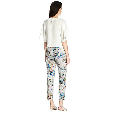 Buy Warehouse Shadow Floral Trousers, Multi Online at johnlewis.com