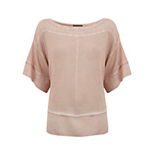 Buy Mint Velvet Kimono Knit Top, Pink Online at johnlewis.com