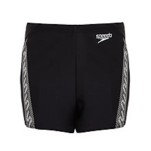 Buy Speedo Mono Aqua Shorts, Black/Multi Online at johnlewis.com