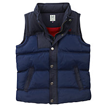 Buy Crew Clothing Boys' Jackson Padded Gilet, Navy Online at johnlewis.com