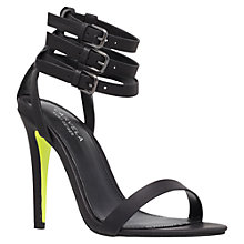 Buy Carvela Gabriel Triple Strap Stiletto Sandals, Black Online at johnlewis.com