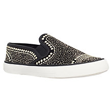 Buy Carvela Lyon Flat Slip On Trainers, Black Online at johnlewis.com