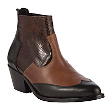 Buy Somerset By Alice Temperley Ledbury Leather Ankle Boots, Black/Tan Online at johnlewis.com