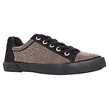 Buy Carvela Lock Trainers, Black Online at johnlewis.com