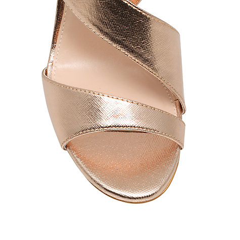 Buy Miss KG Sling Back Heeled Occasion Sandals, Rose Gold Online at johnlewis.com