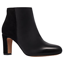 Buy Carvela Spur Leather Block Heeled Ankle Boots, Black Online at johnlewis.com