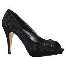 Buy Miss KG Georgia Heeled Peep Toe Court Shoes, Black Online at johnlewis.com