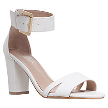 Buy Carvela Carly Buckle Detail Sandals, White Online at johnlewis.com