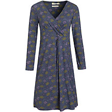 Buy Seasalt Crest Print Dress, Flower Bed Huckleberry Online at johnlewis.com