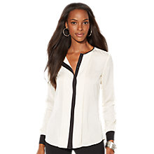 Buy Lauren Ralph Lauren Manjani Shirt, Cream/Black Online at johnlewis.com