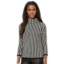 Buy Lauren Ralph Lauren Dogtooth Top, Black/Cream Online at johnlewis.com
