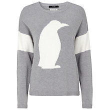 Buy Oui Penguin Knit Jumper, Grey White Online at johnlewis.com