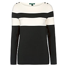 Buy Lauren Ralph Lauren Mianda Boatneck Top, Cream/Black Online at johnlewis.com