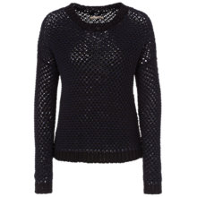 Buy Oui Loose Knit Jumper, Navy Online at johnlewis.com