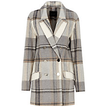 Buy Oui Checked Coat, White/Black Online at johnlewis.com
