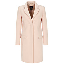 Buy Oui Contrast Collar Coat, Powder Online at johnlewis.com