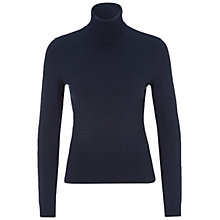 Buy Oui Polo Neck Knit Jumper, Dark Navy Online at johnlewis.com
