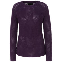 Buy Oui Chunky Knit Jumper, Dark Violet Online at johnlewis.com