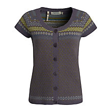 Buy Seasalt Thimble Intarsia Cardigan, Seven Stones Sloe Online at johnlewis.com
