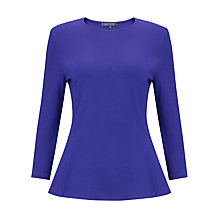 Buy Lauren Ralph Lauren Seedah Peplum Top, Lapis Blue Online at johnlewis.com