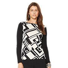 Buy Lauren Ralph Lauren Asimina Boat Neck Top, Cream/Black Online at johnlewis.com