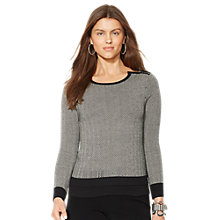 Buy Lauren Ralph Lauren Crewneck Top,  Cream/Black Online at johnlewis.com