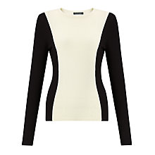 Buy Lauren Ralph Lauren Crewneck Top, Black/Cream Online at johnlewis.com