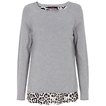 Buy Oui Knit With Leopard Lining, Grey Online at johnlewis.com
