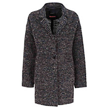 Buy Oui Stripe Coat, Dark Grey/Blue Online at johnlewis.com