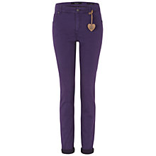 Buy Oui Skinny Jeans, Dark Violet Online at johnlewis.com