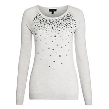 Buy Armani Jeans Stud Detail Jumper, Grey Online at johnlewis.com