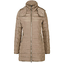 Buy Armani Jeans Hooded 3/4 Quilted Jacket, Taupe Online at johnlewis.com
