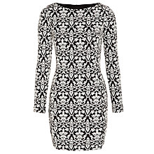 Buy Armani Jeans Jacquard Dress, Black/White Online at johnlewis.com
