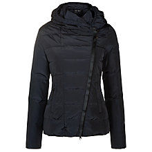 Buy Armani Jeans Hooded Short Quilted Jacket, Navy Online at johnlewis.com