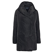 Buy Armani Jeans Hooded Quilt Jacket, Black Online at johnlewis.com