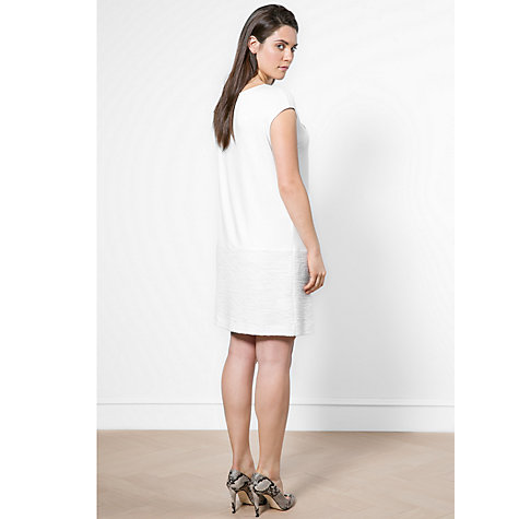 Buy Violeta by Mango Knitted Hem Dress, White Online at johnlewis.com