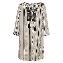 Buy Mango Embellished Ethnic Dress, Natural White Online at johnlewis.com