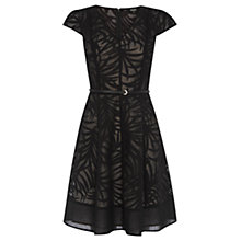 Buy Oasis Palm Burnout Dress, Multi/Black Online at johnlewis.com