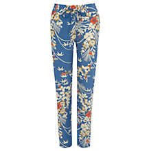 Buy Oasis Japanese Oriental Soft Trousers, Multi/Blue Online at johnlewis.com