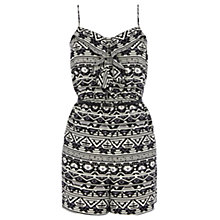 Buy Oasis Aztec Tribal Playsuit, Black/White Online at johnlewis.com