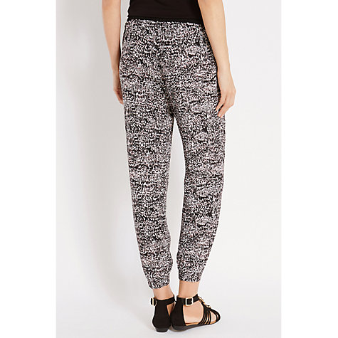 Buy Oasis Animal Print Patched Trousers, Multi/Black Online at johnlewis.com