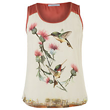 Buy Chesca Humming Bird Print Cami, Coral Online at johnlewis.com
