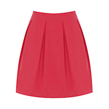 Buy Oasis Summer Jacquard Full Skirt, Deep Pink Online at johnlewis.com