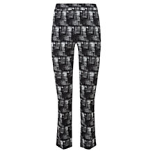 Buy Viyella Ella Checked Trousers, Black Online at johnlewis.com