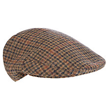 Buy Olney Kinloch Check Felt Cap, Brown Online at johnlewis.com