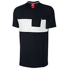 Buy Nike Glory Top Panel T-Shirt, Black/White Online at johnlewis.com