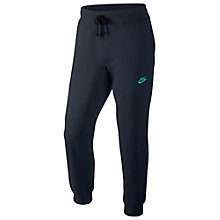 Buy Nike AW77 Cuffed Fleece Trousers, Grey Online at johnlewis.com