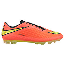 Buy Nike HyperVenom Phelon AG Men's Football Boots, Bright Crimson/Volt Online at johnlewis.com