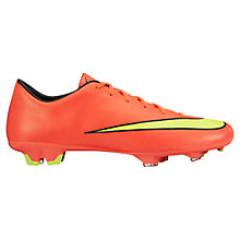 Buy Nike Mercurial Victory V FG Men's Football Boots, Hyper Punch/Metallic Gold Coin Online at johnlewis.com
