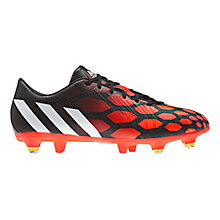 Buy Adidas Predator Absolado Instinct SG Men's Football Boots, Black/White Online at johnlewis.com